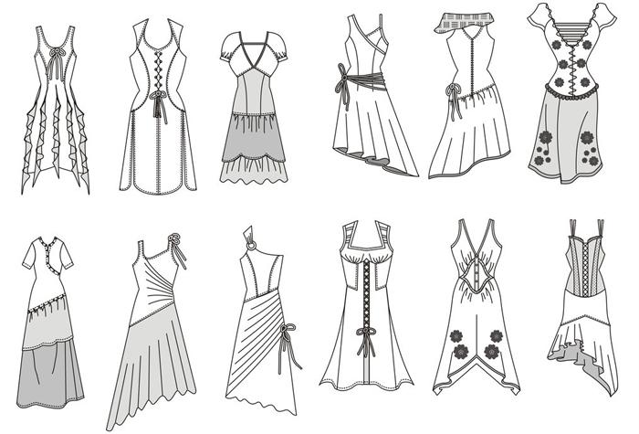 古罗马设计服装手绘设计图展示