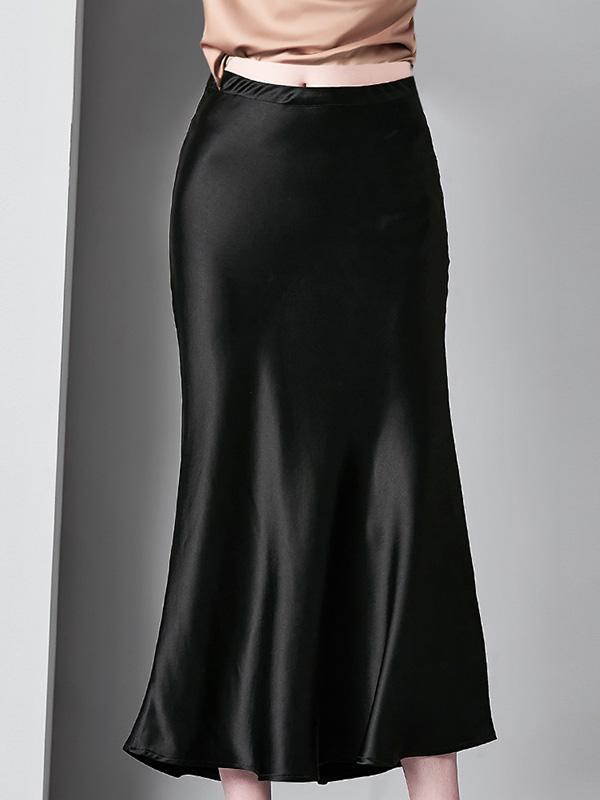 6912003欧洲站名媛时尚女装醋酸包臀半身裙中长款鱼尾裙修身裙子