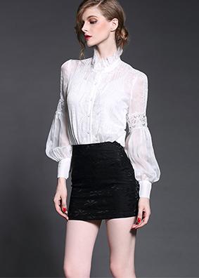 2017春装新款欧美时尚女装真丝女式衬衫欧洲站高端长袖衬衣上衣女 2757