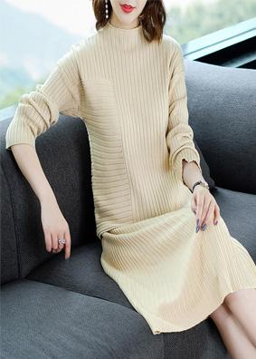 2018女装秋季新款线衫女高领长袖宽松毛衣半身裙两件套女针织套装 NA01