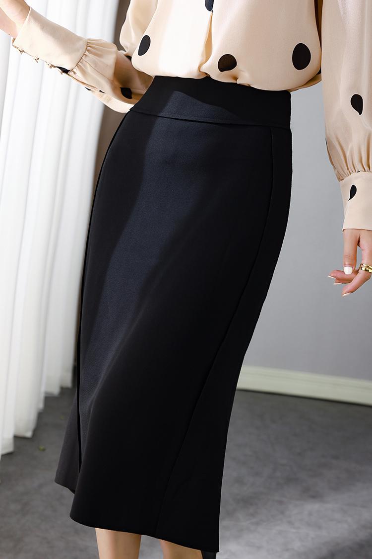 922031 百搭通勤风OL高腰修身半身裙 欧货气质时尚开叉鱼尾包臀裙